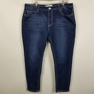 VGS Vigoss Roll Up Skinny Dark Wash Jeans Plus 20